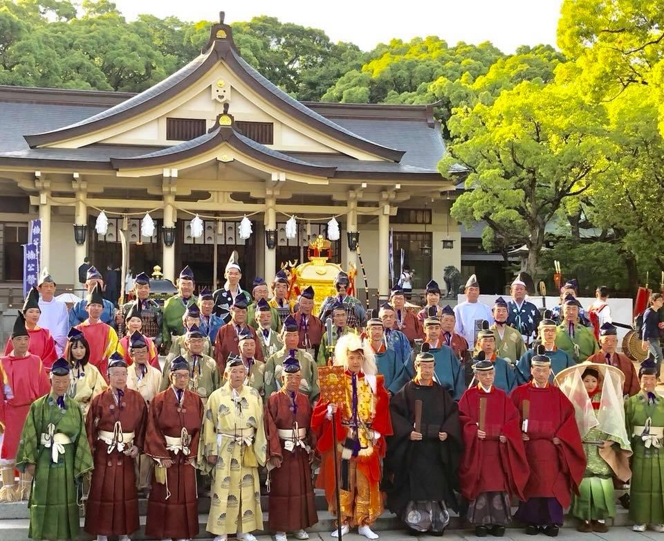 湊川神社の楠公武者行列-